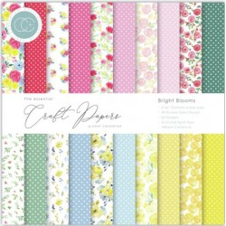 CRAFT CONSORTIUM BRIGHT BLOOMS PAPER PAD 15 x 15cm