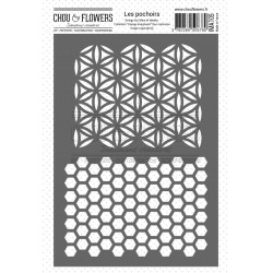 CHOU & FLOWERS POCHOIR DUO MEMORIES VOYAGE IMAGINAIRE