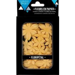 FLORIPETALS FLEURS AMBRE - 40 FLEURS 2 GRANDEURS