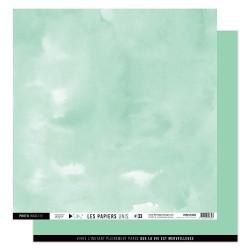 FLORILEGES DESIGN Papier uni VERT OPALINE 33 30,5 x 30,5 cm