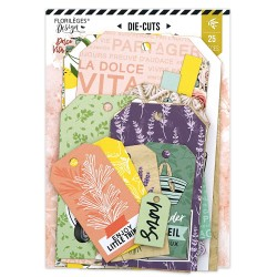 FLORILEGES DESIGN DIE CUTS TAG DOLCE VITA