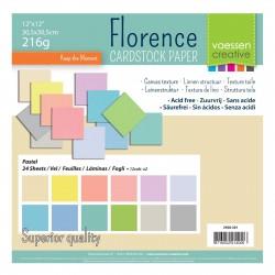 FLORENCE CARDSTOCK -SET PASTEL 30.5 X 30.5 CM