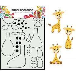 Dutch Doobadoo Card Art Built up GIRAFFE