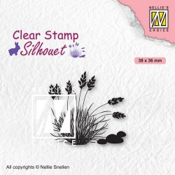 Nellies Choice Clearstamp - Silhouette Blooming grass - 4