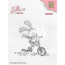 Nellies Choice Clearstamp - CUTIES Javi with full speed