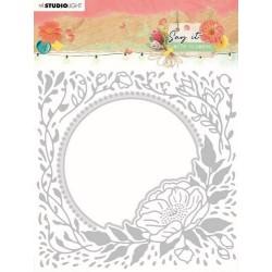 Studio Light Emb. Folder & Cutting Die Say it with flowers nr.12