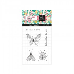 """SOKAI SO'BLOOM """"Les Insectes"""" TAMPONS CLEAR"""
