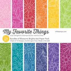 My favorite Things :BUNDLES OF BLOSSOMS BRIGHTS PAPER PACK 15X15 CM