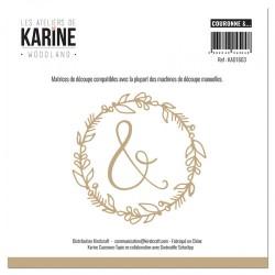 """LES ATELIERS DE KARINE """"WOODLAND"""" DIES COURONNE &..."""
