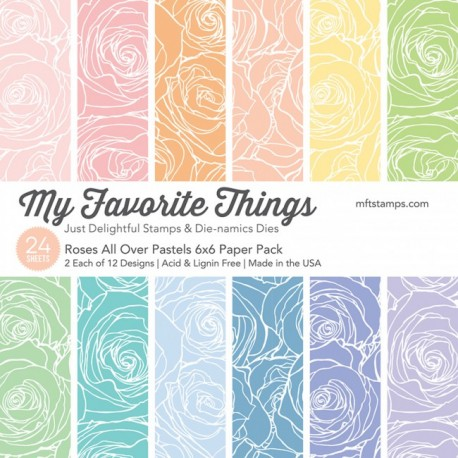 My favorite Things ROSES ALL OVER PAPER PACK 15X15 CM