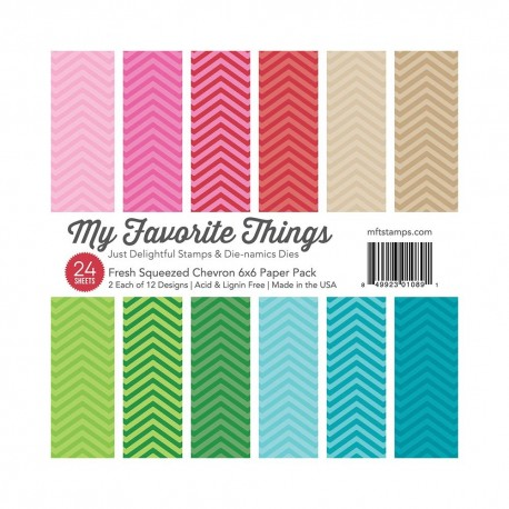 My favorite Things FRESH SQUEEZED CHEVRON PAPER PACK 15X15 CM