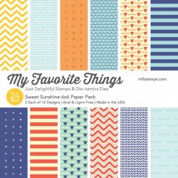 My favorite Things SWEET SUNSHINE PAPER PACK 15X15 CM