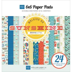 ECHO PARK PAPER WALKING ON SUNSHINE PAPER PACK 15X15 CM