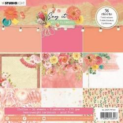 Studio Light paper Pad SAY IT WITH FLOWERS No.161 15x15 cm