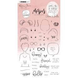 """STUDIO LIGHT Karin Joan Stamp set """"ANNA & BELLA"""" Missees Collection nr.15,"""