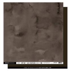 FLORILEGES DESIGN Papier uni MARRON CHOCOLAT 36 30,5 x 30,5 cm VUE SUR MER