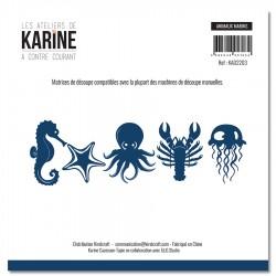 """LES ATELIERS DE KARINE """"A CONTRE COURANT"""" DIES ANIMAUX MARINS"""