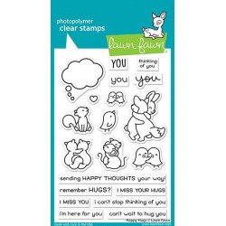 LAWN FAWN CLEAR STAMPS HAPPY HUGS