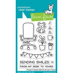 LAWN FAWN CLEAR STAMPS VIRTUAL FRIENDS ADD-ON