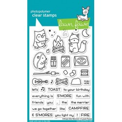 LAWN FAWN CLEAR STAMPS S'MORE THE MERRIER