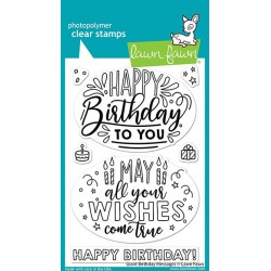 LAWN FAWN CLEAR STAMPS GIANT BIRTHDAY MESSAGES