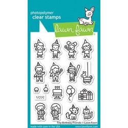 LAWN FAWN CLEAR STAMPS TINY BIRTHDAY FRIENDS