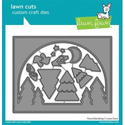 LAWN FAWN DIES FOREST BACKDROP