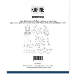 """LES ATELIERS DE KARINE """"A CONTRE COURANT"""" POCHOIR BRODERIE"""