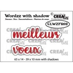 Crealies WORDZZ MEILLEURS VOEUX with shadow
