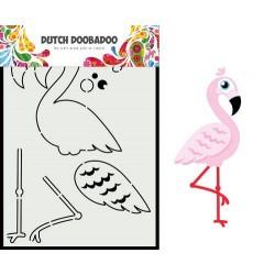 Dutch Doobadoo Card Art Built up FLAMINGO