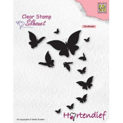 Nellies Choice Clearstamp - SILHOUETTE PETS - BUTTERFLIES