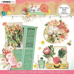 Studio Light PAPER ELEMENTS SAY IT WITH FLOWERS No.667 15x15 cm