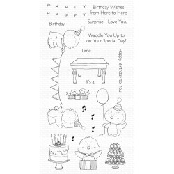 MFT SY PENGUIN PARTY CLEAR STAMPS