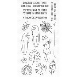 MFT SOMETHING TO SQUAWK ABOUT CLEAR STAMPS