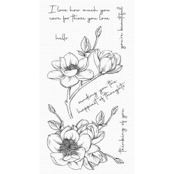 MFT MAGNOLIA BLOSSOMS CLEAR STAMPS