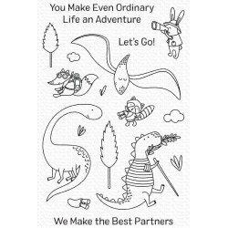 MFT DINO ADVENTURE CLEAR STAMPS