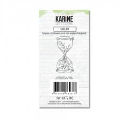 """LES ATELIERS DE KARINE """"CAHIER D'AUTOMNE"""" Tampon Clear SABLIER"""