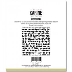 """LES ATELIERS DE KARINE """"CAHIER D'AUTOMNE"""" POCHOIR TOUT EN RONDEUR"""