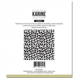 """LES ATELIERS DE KARINE """"CAHIER D'AUTOMNE"""" POCHOIR MINI FEUILLES"""