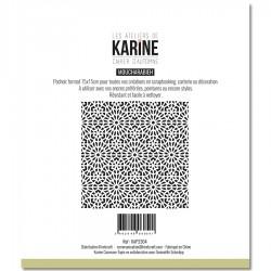 """LES ATELIERS DE KARINE """"CAHIER D'AUTOMNE"""" POCHOIR MOUCHARABIEH"""