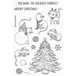 MFT CLEAR STAMPS MEOWY CHRISTMAS