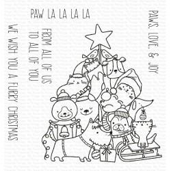 MFT CLEAR STAMPS PAW LA LA LA LA