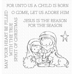 MFT CLEAR STAMPS RAM AWAY IN A MANGER
