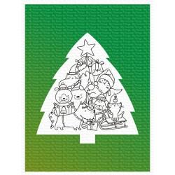 MFT STENCIL CHRISTMAS TREE BACKGROUND