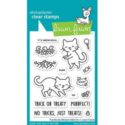 LAWN FAWN CLEAR STAMPS PURRFECTLY WICKED ADD-ON