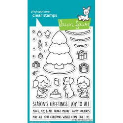 LAWN FAWN CLEAR STAMPS JOY TO ALL