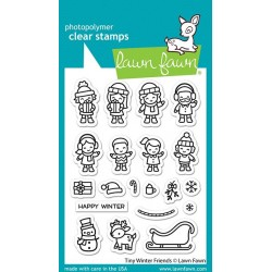 LAWN FAWN CLEAR STAMPS TINY WINTER FRIENDS