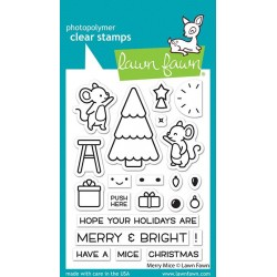 LAWN FAWN CLEAR STAMPS MERRY MICE