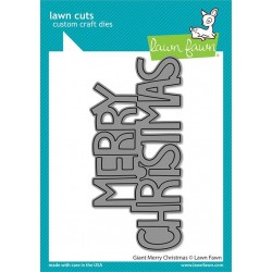LAWN FAWN DIES GIANT MERRY CHRISTMAS