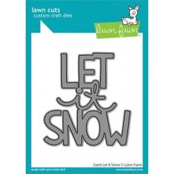 LAWN FAWN DIES GIANT LET IT SNOW